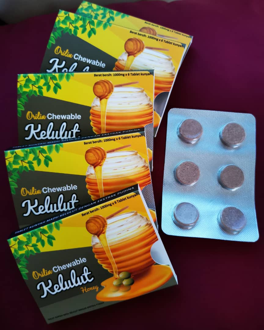 Orilin Chewable Kelulut Honey Tablet